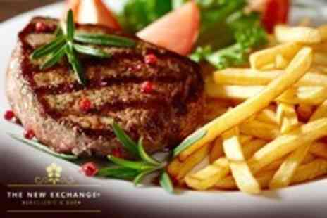 The New Exchange Brasserie - Two Course Steak Dinner For Two - Save 57%