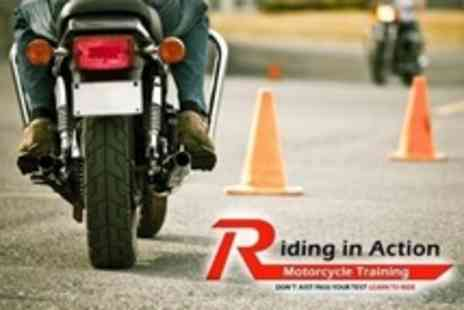 Riding In Action - One Day Motorcycle CBT Course - Save 67%