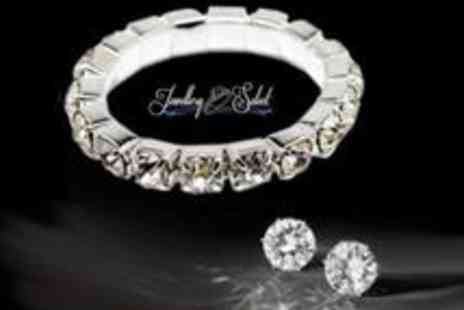 Jewellery Select - Ring and Earring Set made with Swarovski Elements - Save 83%