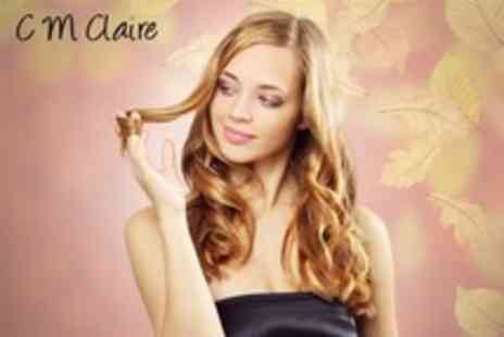 C M Claire - Half Head Highlights or Lowlights With Cut and Blow Dry - Save 64%