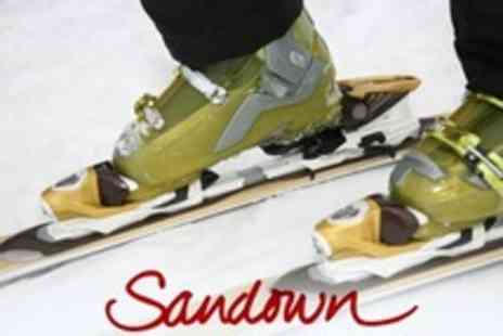 Sandown Ski Centre - Beginners Group Skiing Lesson With Equipment Hire - Save 80%