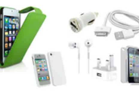 EDDProducts - Bring home the ultimate iPhone4/4S bundle Includes silicon & leather case- Save 57%