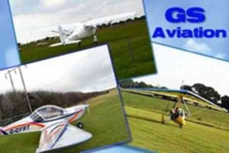 GS Aviation - Microlight Flying Lesson - Save 55%