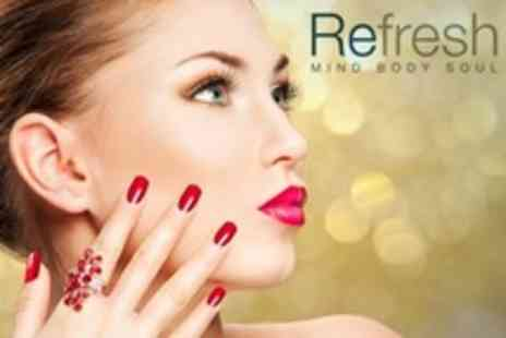 Refresh Mind Body Soul - Shellac Manicure or Pedicure - Save 75%