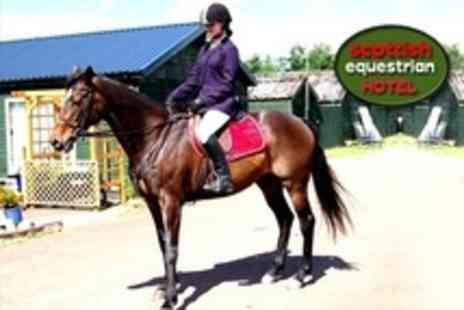 Scottish Equestrian Hotel - Two Hour Horse Riding Lesson and Country Hack For One - Save 62%