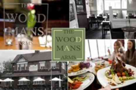 The Woodmans Arms - Three Course Gastro Pub Meal With Bubbly For Two - Save 22%