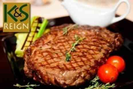 K&S Reign - Two Course Grill Meal For Two With Sides - Save 63%
