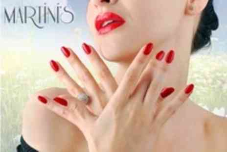 Martinis Hair - Shellac or Minx Foil Manicure or Pedicure - Save 30%