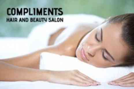 Compliments Hair - Full Body Massage and REVIDERM Microdermabrasion Facial - Save 72%