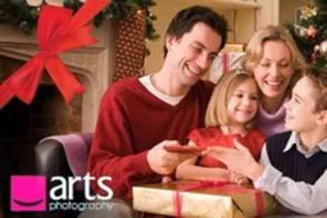 Arts Photography - Family Christmas Photoshoot and Ten Custom Christmas Cards - Save 94%