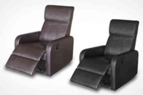 Premium Sofas - Mayfair Leather Recliner Chair With Black or Brown Finish - Save 72%