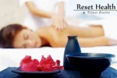 ReSET Health and Fitness Centre - Choice of One Hour Massage or Reflexology Treatment - Save 68%