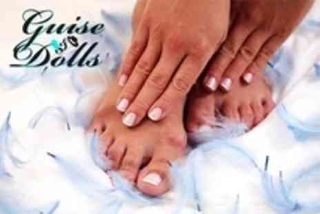 Guise and Dolls - Gellux Manicure  Plus Pedicure - Save 60%