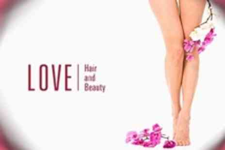 Love Hair and Beauty - Half Legs Waxing, Eyebrows and Underarms - Save 58%