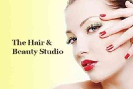 The Hair and Beauty - Deluxe Manicure and Pedicure Plus Shellac on Hands - Save 63%