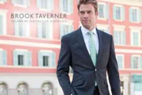 Brook Taverner - Mens Tailored Wool Mixed Travel Suit - Save 60%