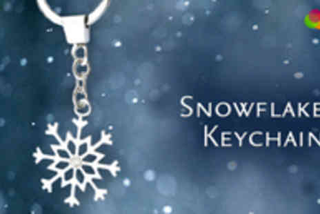 Gift Me Something Special - One Diamond Studded Snowflake Keychain - Save 67%