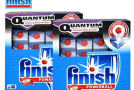 Finishin Touch - 80 Finish Quantum Dishwasher Tablets - Save 52%