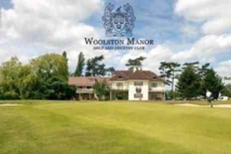 Woolston Manor Golf - Round of Golf and Lunch For Two - Save 52%