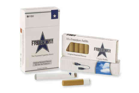 Freedom Cigarettes - Starter kit of Freedom electric powered cigarettes plus 40 cartridge refills of premium flavours - Save 63%