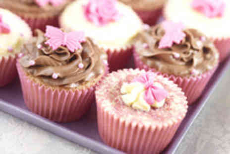 Red Rose Florist - 12 personalised vanilla cupcakes from Red Rose Florists & Cakes - Save 63%