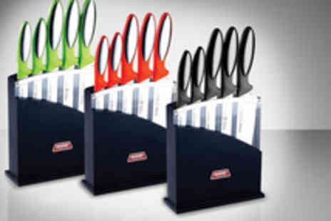 Camelot Goods - Six piece professional stainless steel coloured knife set inc - Save 63%