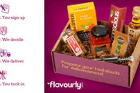 Flavourly - One month subscription to a Flavourly box - Save 50%