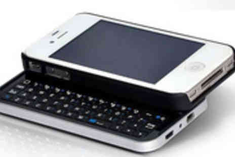 Bluebud - Bluetooth slide out keyboard case cover for Apple iPhone 4 or 4S - Save 46%