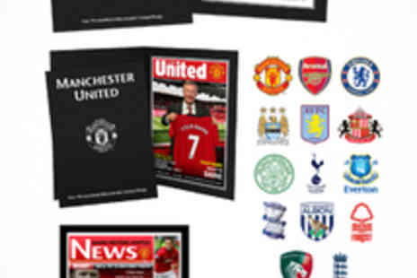 Personalised Football Gifts - Personalised Footie Newspaper Print and Photos - Save 58%