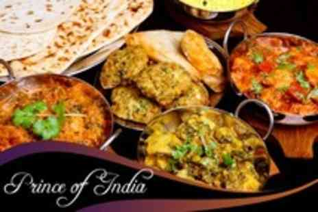 Prince of India - Seven-Dish Indian Taster Menu For Two - Save 57%