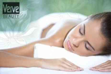 Verve Beauty - Hot Stone or Swedish Massage With Mini Facial and Manicure - Save 64%