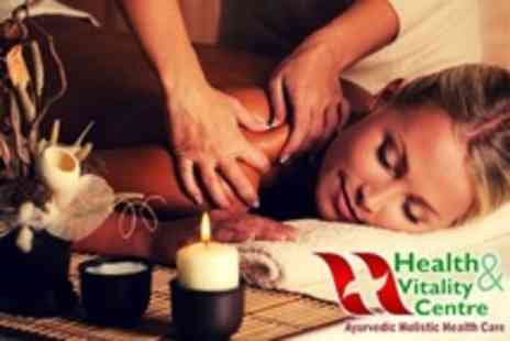 Health and Vitality Centre - Ayurvedic Full Body Massage With Head Massage or Steam - Save 75%