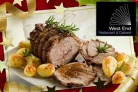 West End Cabaret - Christmas Carvery Meal With Live Entertainment For Two or Four - Save 44%