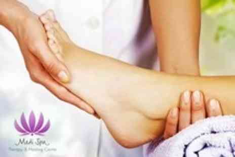 Medi Spa - Reflexology Treatment  With Foot and Leg Massage and Hot Stone Massage - Save 51%