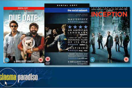 Cinema Paradiso - Three months of DVD and Blu-ray rentals - Save 80%