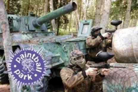 Paintball South - Paintballing For Five People Plus 100 Paintballs, Smoke Bomb and Lunch - Save 81%