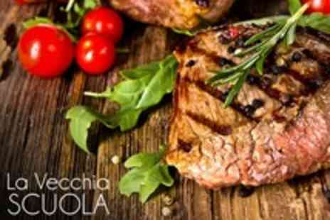 La Vecchia Scuola - Two Course Italian Meal for Two - Save 69%