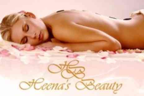 Heenas Beauty - One Hour Hot Stone Massage - Save 56%