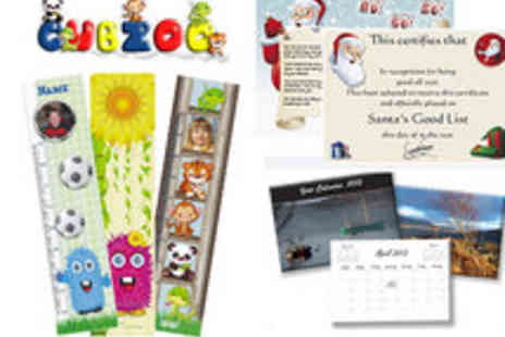 Cubzoo - Personalised Calendar, Kids Height chart and Letter - Save 50%