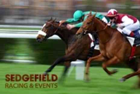 Sedgefield Racecourse - Day Ticket to Horse Racing For One - Save 50%