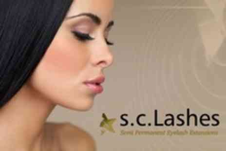 S.C. Lashes and Beauty - Full Set of Semi Permanent Eyelash Extensions - Save 67%