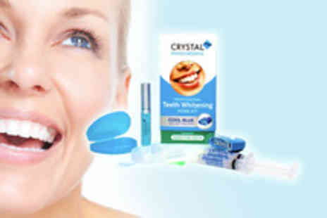 Crystal Innovations - A peroxide free home teeth whitening kit - Save 85%