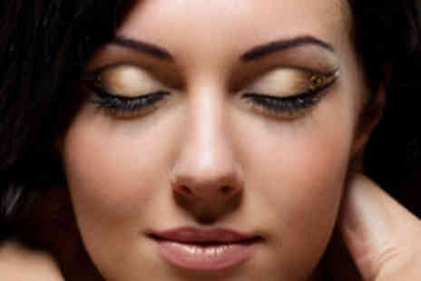 Nathan Knowles - Full set of semi permanent eyelash extensions with a brow shape and tint - Save 79%
