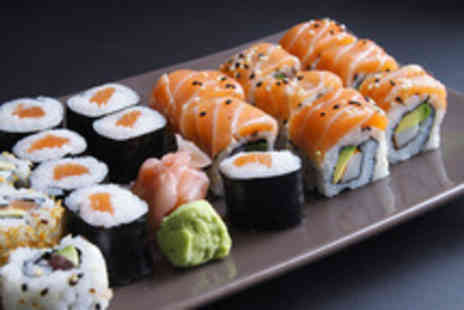 Koi Sushi & Noodle Bar - Sushi for 2 including 36 pieces of sushi to share & green tea - Save 51%