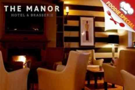 The Manor Hotel - Two Course Sunday Roast For Two With Champagne - Save 52%