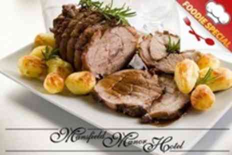 Mansfield Manor Hotel - Three Course Sunday Lunch For Two - Save 67%