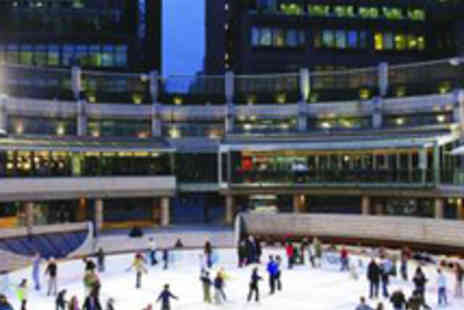 Broadgate Ice Rink - Family Ice Skating Ticket - Save 50%