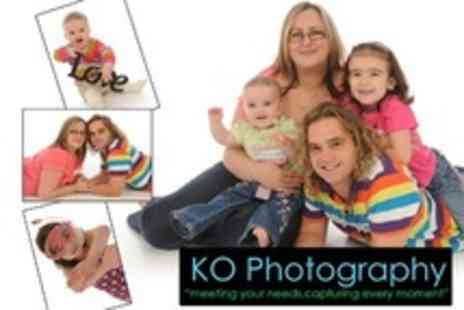 KO Photography - Family Photoshoot With Two Prints and Images - Save 47%