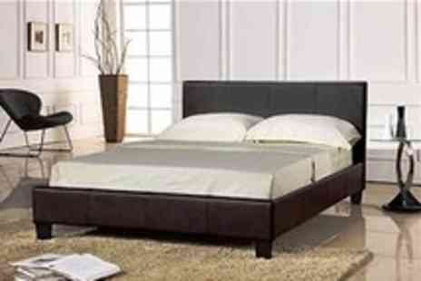 Curated - Turin Faux Leather Bed With Choice of Mattress - Save 64%