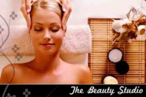 The Beauty Studio - Pamper Package with Full Body and Indian Head Massage Plus Choice of Facial For One - Save 74%